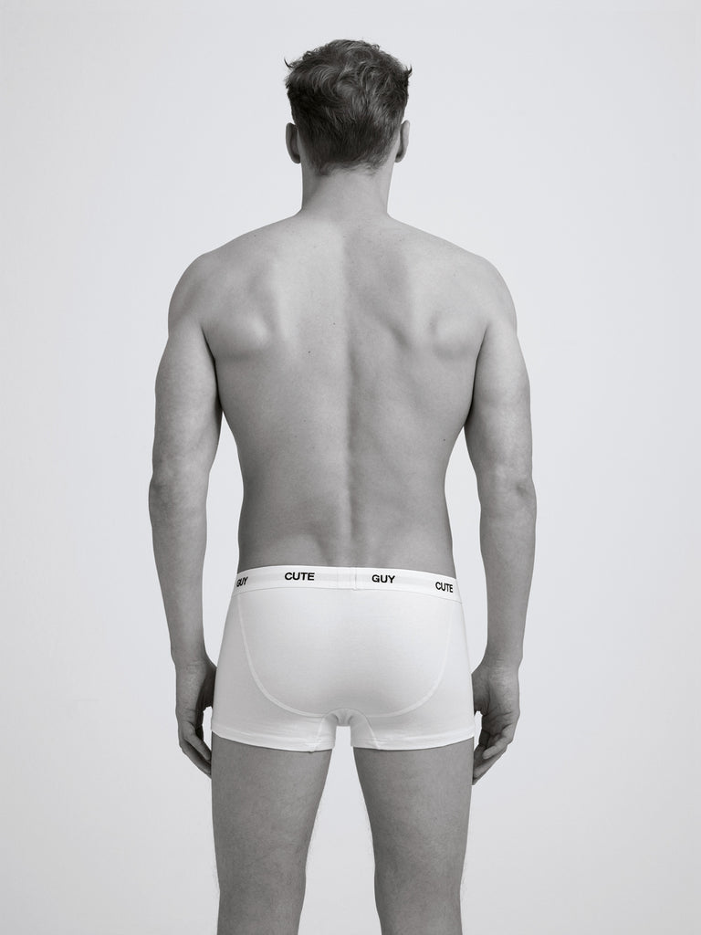 Cute Guy Boxer Brief/ Twin Pack/ White