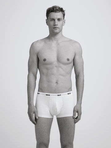 Nice Guy Boxer Brief/ White