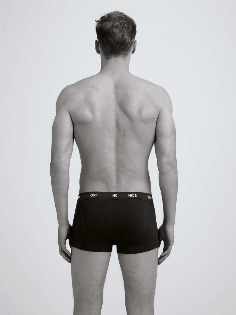 Nice Guy Boxer Brief/ Twin Pack/ Black