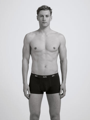 Cute Guy Boxer Brief/ Black