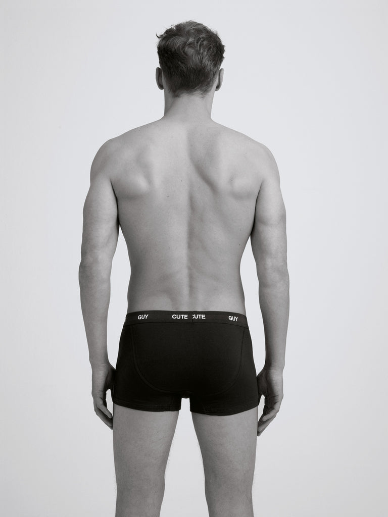 Cute Guy Boxer Brief/ Twin Pack/ Black