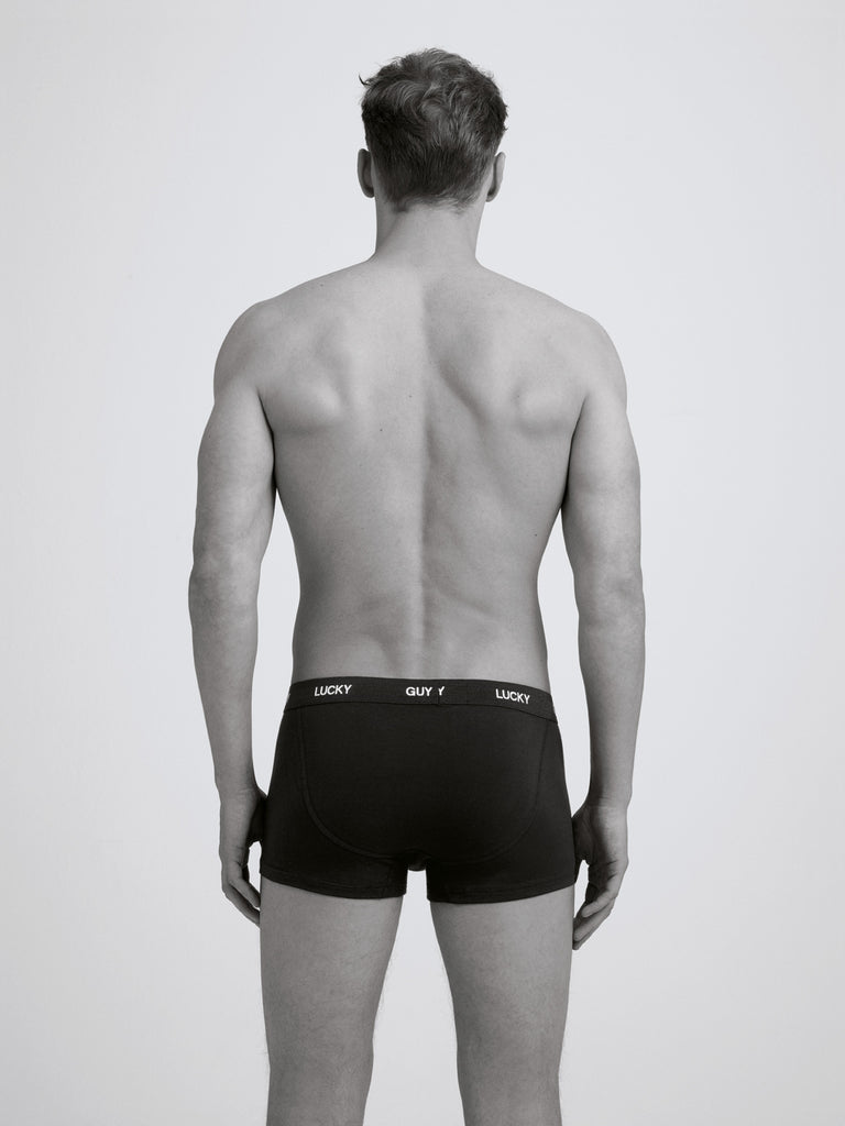 Lucky Guy Boxer Brief/ Twin Pack/ Black
