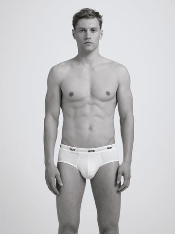 Nice Guy Slim Brief/ White