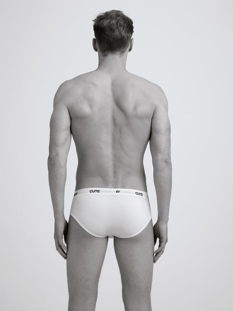 Cute Guy Slim Brief / Twin Pack / White