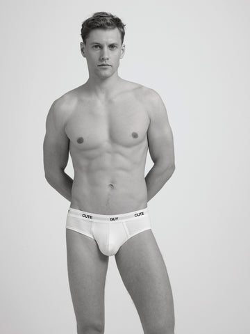 Cute Guy Slim Brief / White