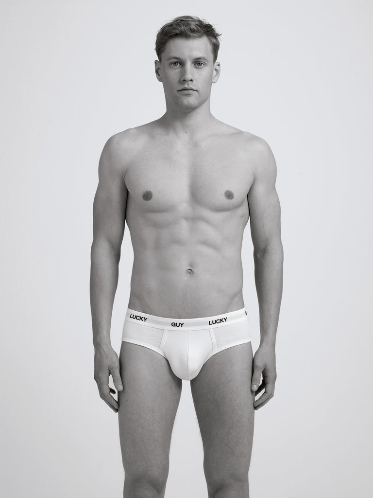 Lucky Guy Slim Brief / White