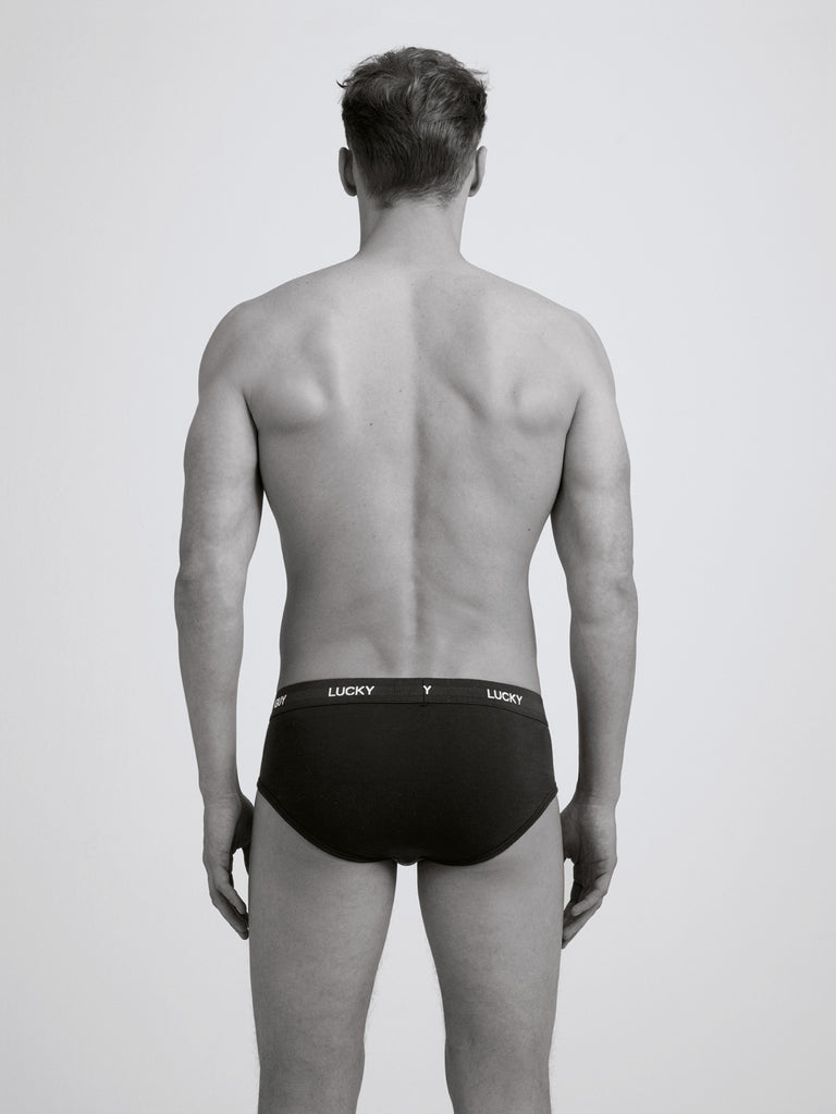 Lucky Guy Slim Brief/ Twin Pack/ Black