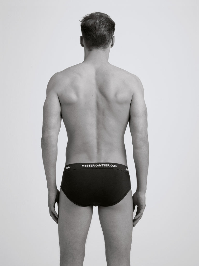 Mysterious Guy Slim Brief/ Twin Pack/ Black