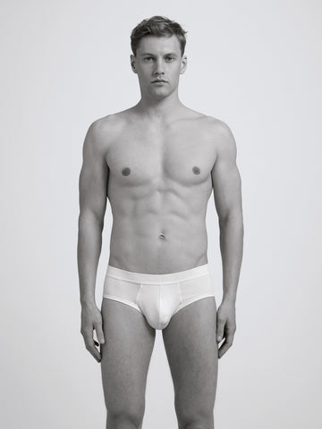 Core Slim Organic Brief/ White
