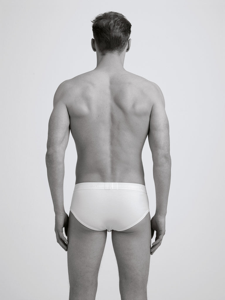 Classic Rib Brief/ Twin Pack/ White