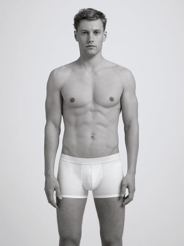 Core Slim Organic Boxer Brief/ White
