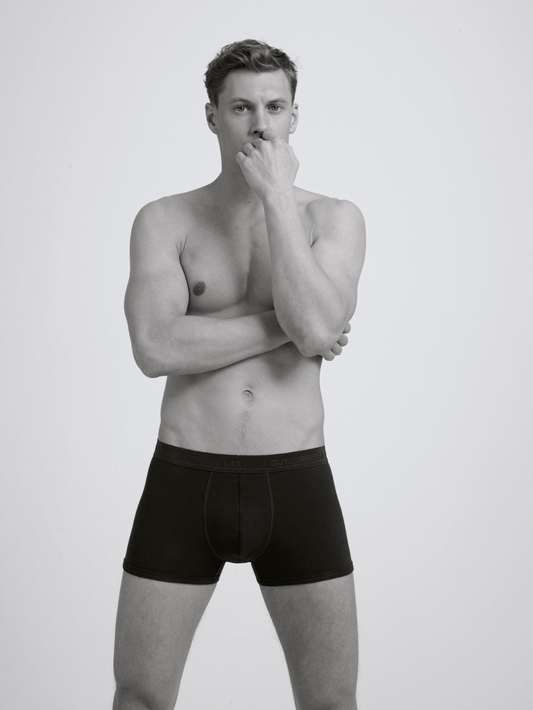Core Slim Organic Cotton Boxer Brief/ Black