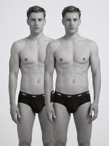 Nice Guy Slim Brief/ Twin Pack/ Black