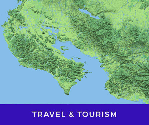 business maps for tourism and travel industry