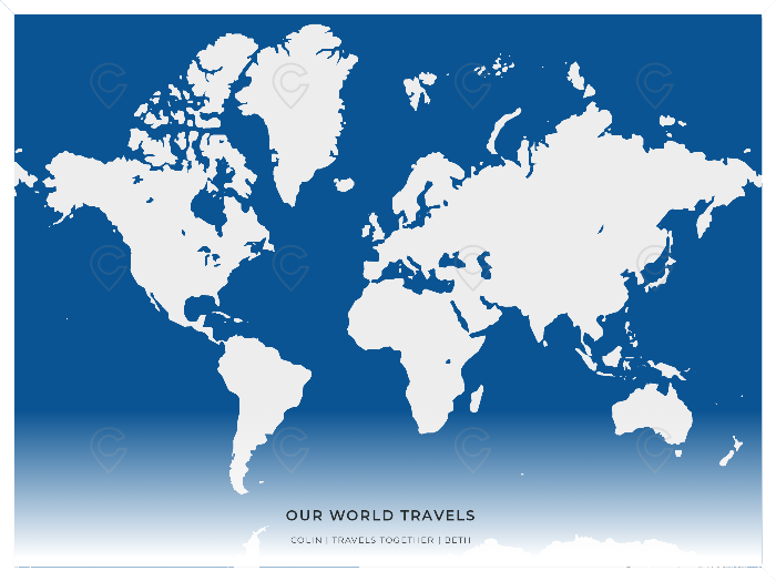 Printed Poster 24 X18 Our World Travels Us Counties And Zip