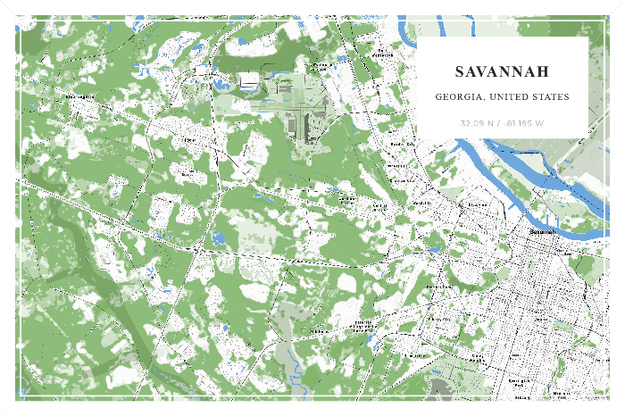 "Digital file: Small – 36""x24"" - Savannah - Do It Yourself - 24x36 - 20200723"