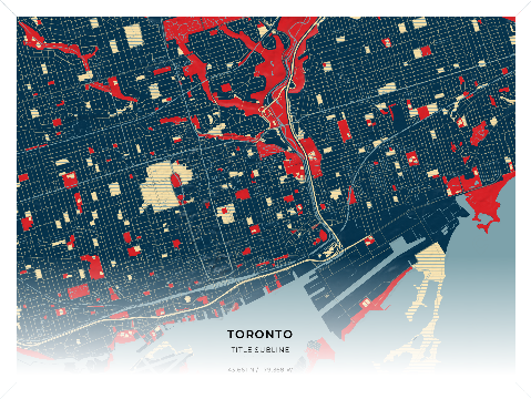 Map Poster - 24x36 customaps-20180316-Toronto-hope-landscape-4x3-12_1943_6609-79_368100_5-140325