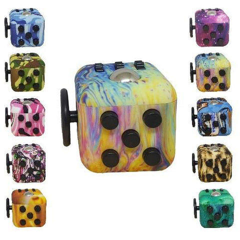 Fidget Cubes - Assorted Pattern Colors