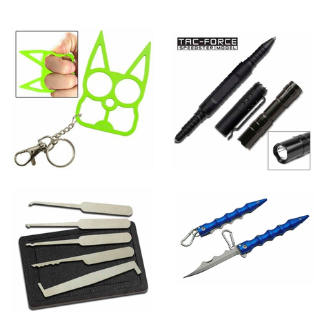 Self Defense keychains, Lock Picks and Entry Tools