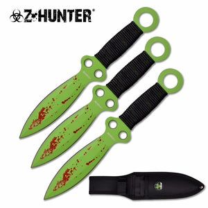 "Z-Hunter ""Rules of Prey"" Throwing Knife 3 Pc Set"