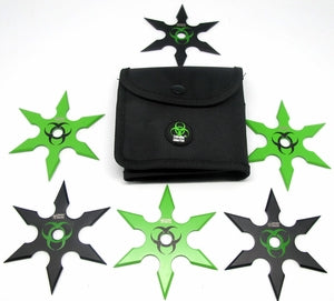 Zombie Hunter 6 Pc Large Heavyweight Throwing Star Set