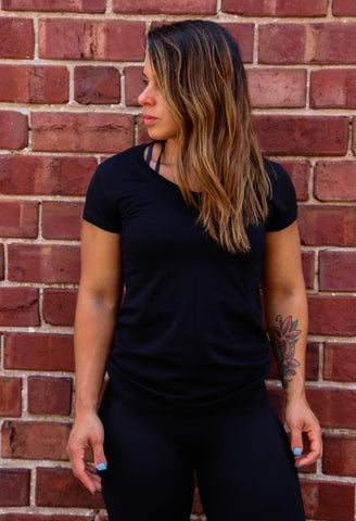 Women's Black Urban V-Neck