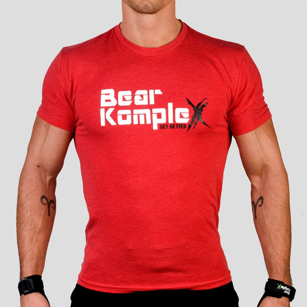 Bear KompleX Men's T-Shirt - Red / White Font