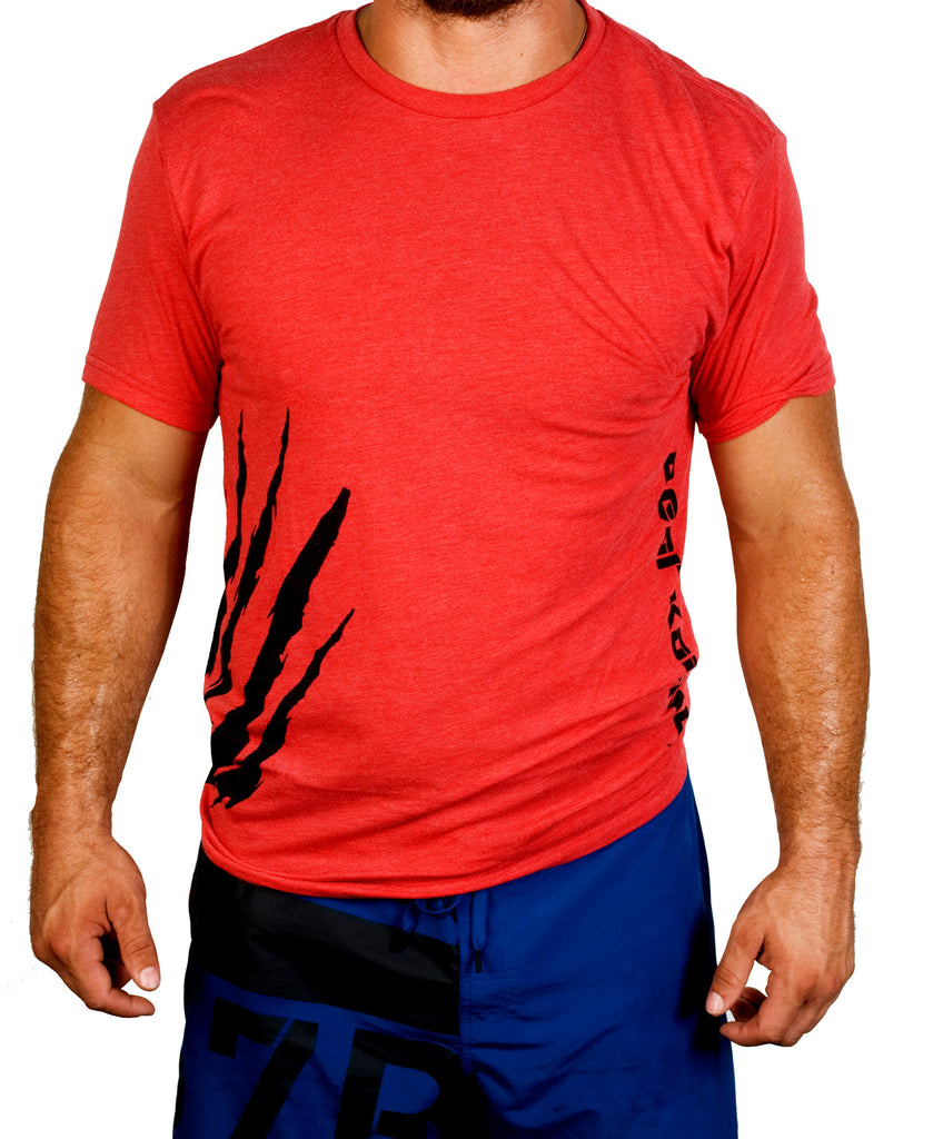 Bear KompleX Men's T-Shirt - Red / Claw Black Font