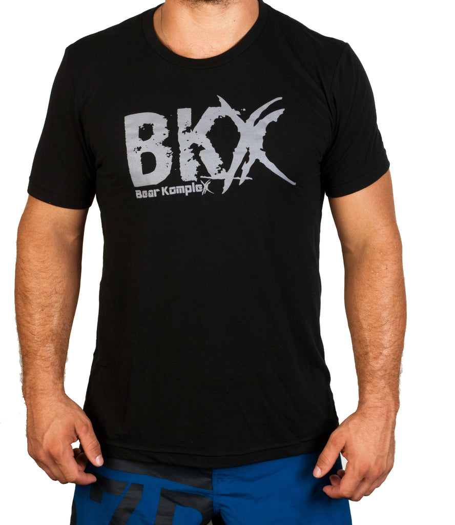 Bear KompleX Men's T-Shirt - Black BKX / Grey Font