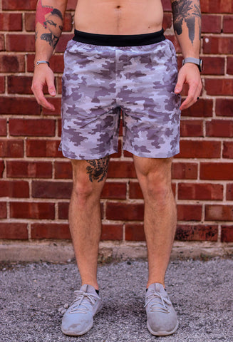 Grey Camo Training Shorts