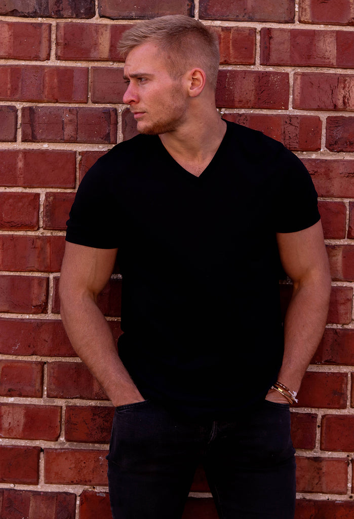 Black Urban Unisex  V-Neck