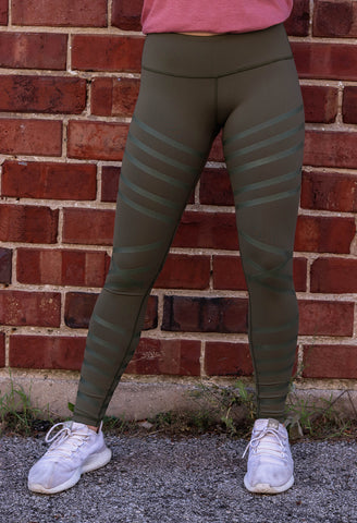BKX Military Green/Tripwire Leggings
