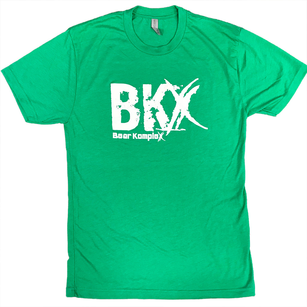 Bear KompleX Men's T-Shirt - Green BKX / White Font