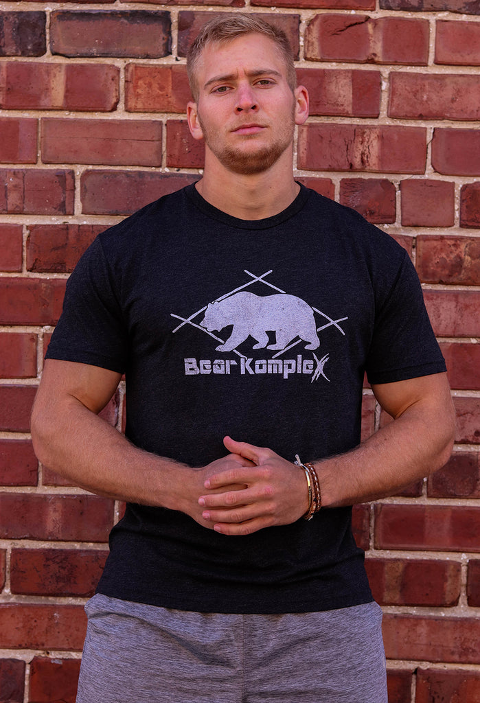 "Bear KompleX Men's Vintage Black ""Bear"" T-Shirt"