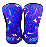 Bear KompleX Knee Sleeves - Lightning with REVERSIBLE Blue *SALE ITEM ALL SALES FINAL*