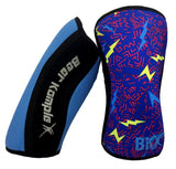 Bear KompleX Knee Sleeves - Lightning with REVERSIBLE Blue