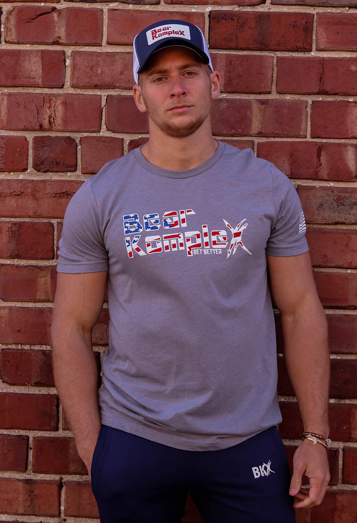 Bear KompleX Men's T-Shirt - Stars/Stripes Font