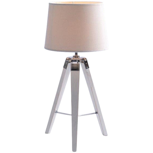 Classic Tripod Table Lamp - Small - White - Industrial Lighting Studio