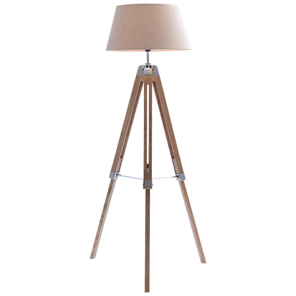Classic Tripod Floor Lamp - Large - Beige - Industrial Lighting Studio