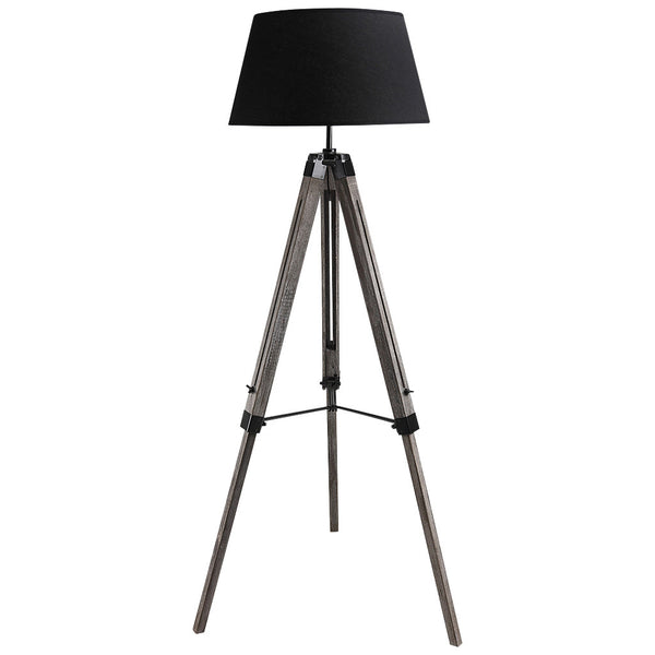 Classic Tripod Floor Lamp - Large - Black - Industrial Lighting Studio