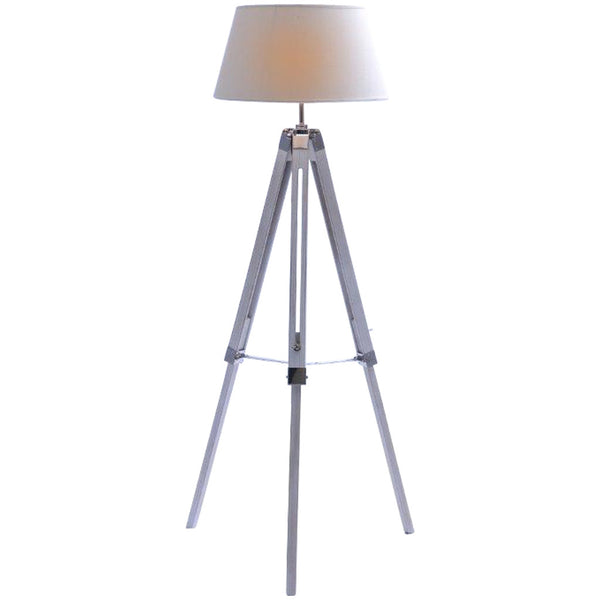 Classic Tripod Floor Lamp - Large - White - Industrial Lighting Studio
