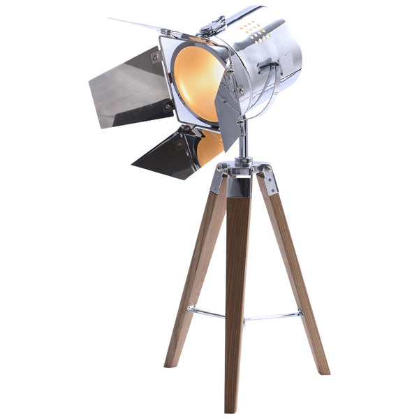 Studio Tripod Table Lamp - Small - Chrome - Industrial Lighting Studio