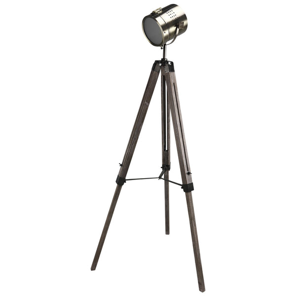 Mesh Head Tripod Floor Lamp - Large - Bronze - Industrial Lighting Studio