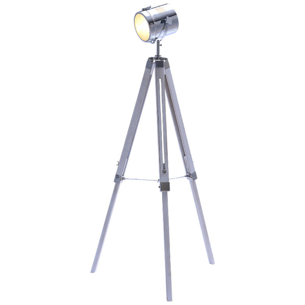 Mesh Head Tripod Floor Lamp - Large - White - Industrial Lighting Studio