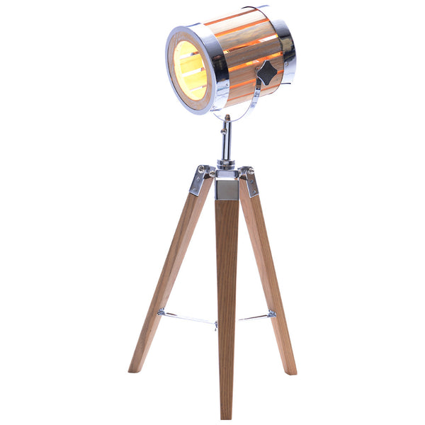 Woody Table Lamp - Small - Natural Wood - Industrial Lighting Studio