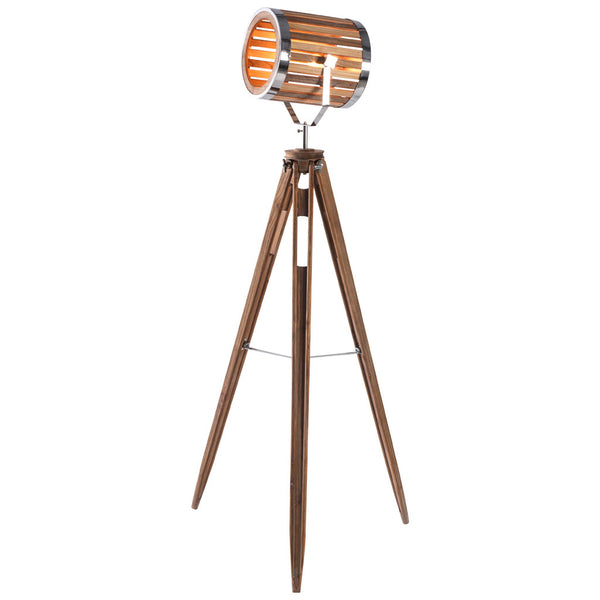 Woody Floor Lamp - Large - Natural Wood - Industrial Lighting Studio