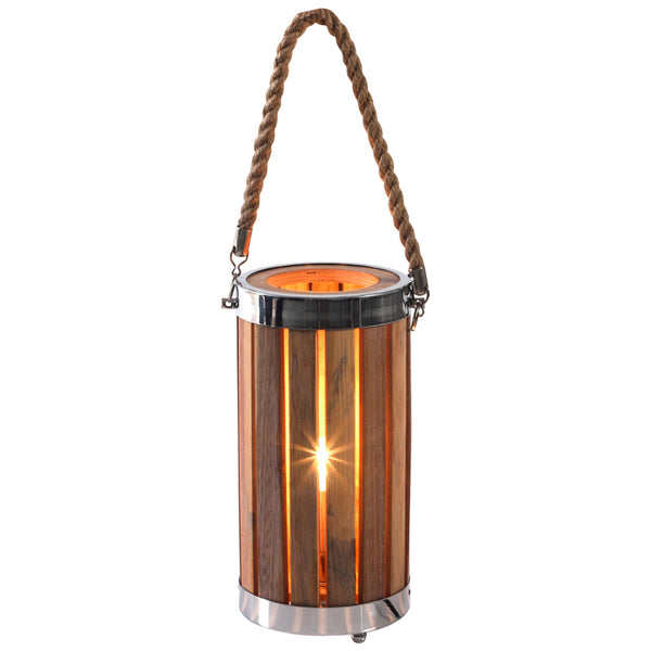 Boho Wooden Table Lamp - Small - Industrial Lighting Studio