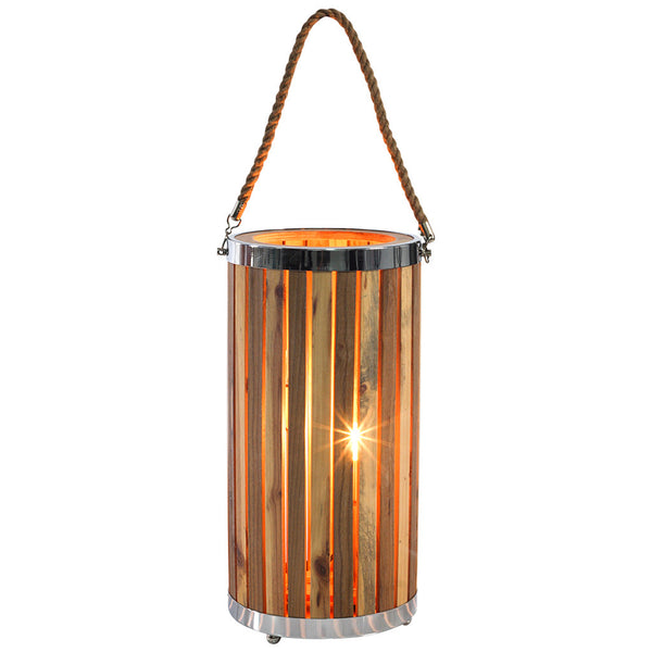Boho Wooden Table Lamp - Medium - Industrial Lighting Studio
