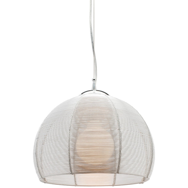 Arden 1 Bulb Pendant Light - Silver - Industrial Lighting Studio