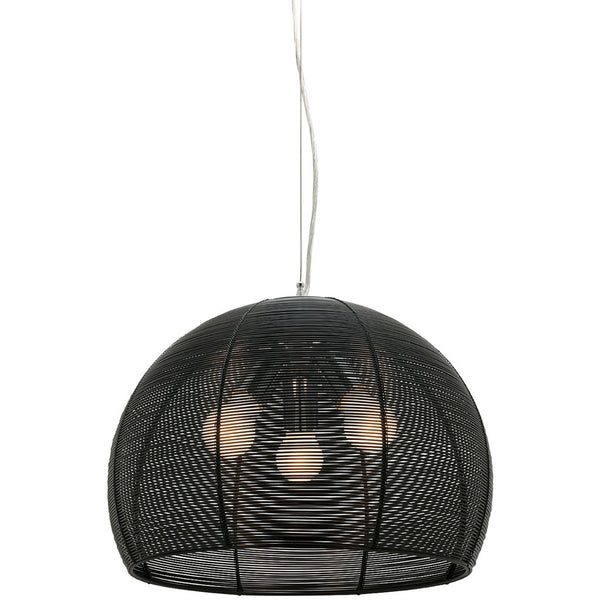 Arden 3 Bulb Pendant Light - Black - Industrial Lighting Studio